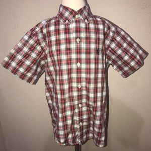 ralph lauren boys plaid shirt size 5 E99